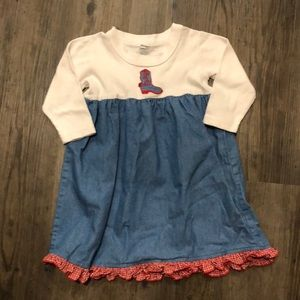 Other - Cowgirl T-shirt and Denim Dress - 24 months